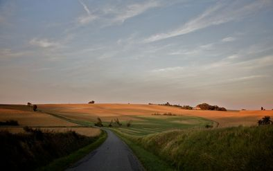 Paysage petite route -