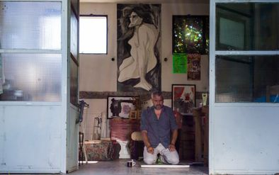 Emmanuel Blancafort dans son atelier -