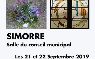 Affiche exposition art floral et vitrail -