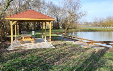 Aménagement pour la pratique de la pêche à Saramon -